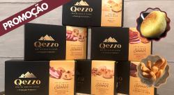 Promoção! Kit Qezzo 6 sabores + Brinde (1 Pct. de Biscoito de Queijo e 1 Qezzadinha)